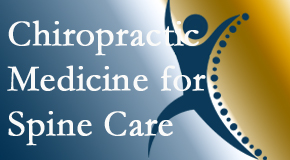 Chiropractic Care offers chiropractic spinal manipulation as recommended for spine pain relief and appreciated by Chicago chiropractic patients.