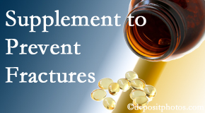 Chiropractic Care suggests nutritional supplementation with vitamin D and calcium to prevent osteoporotic fractures.