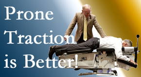 Chicago spinal traction applied lying face down – prone – is best according to the latest research. Visit Chiropractic Care.