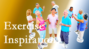 Chiropractic Care hopes to inspire exercise for back pain relief by listening closely and encouraging patients to exercise with others.