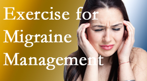 Chiropractic Care includes exercise into the chiropractic treatment plan for migraine relief.