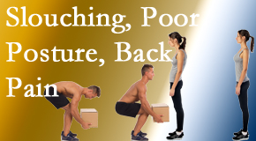Chiropractic Care gives slouching prevention advice to improve poor posture and relieve related back pain and neck pain.