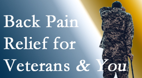Chiropractic Care treats veterans with back pain and PTSD and stress.