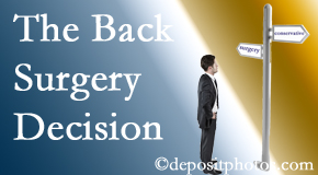 West Palm Beach back surgery for a disc herniation is an option to be carefully studied before a decision is made to proceed.