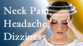 Chiropractic Care helps decrease neck pain and dizziness and related neck muscle issues.