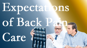 The pain relief expectations of Chicago back pain patients influence their satisfaction with chiropractic care. What is realistic?