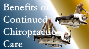 Chiropractic Care offers continued chiropractic care (aka maintenance care) as it is research-documented as effective.