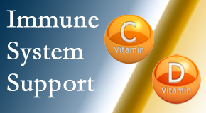 Chiropractic Care presents details about the benefits of vitamins C and D for the immune system to fight infection.