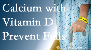 Calcium and vitamin D supplementation may be suggested to West Palm Beach chiropractic patients who are at risk of falling.