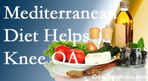 Chiropractic Care shares recent research about how good a Mediterranean Diet is for knee osteoarthritis as well as quality of life improvement.