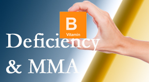 Chiropractic Care points out B vitamin deficiencies and MMA levels may affect the brain and nervous system functions.