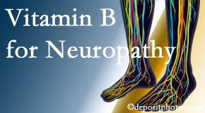 Chiropractic Care recognizes the benefits of nutrition, especially vitamin B, for neuropathy pain along with spinal manipulation.