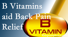 Chiropractic Care may include B vitamins in the West Palm Beach chiropractic treatment plan of back pain sufferers.