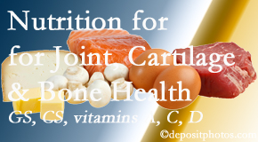 Chiropractic Care explains the benefits of vitamins A, C, and D as well as glucosamine and chondroitin sulfate for cartilage, joint and bone health.