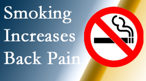 Chiropractic Care explains that smoking heightens the pain experience especially spine pain and headache.