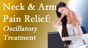 Chiropractic Care reduces neck pain and related arm pain by using gentle motion-based manipulation.