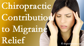 Chiropractic Care use gentle chiropractic treatment to migraine sufferers with related musculoskeletal tension wanting relief.