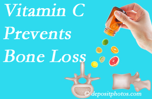 Chiropractic Care may suggest vitamin C to patients at risk of bone loss as it helps prevent bone loss.