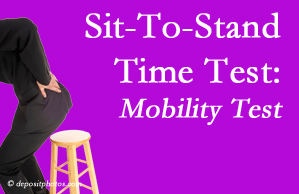 West Palm Beach chiropractic patients are encouraged to check their mobility via the sit-to-stand test…and increase mobility by doing it!
