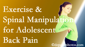 Chiropractic Care uses Chicago chiropractic and exercise to relieve back pain in adolescents.