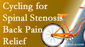 Chiropractic Care encourages exercise like cycling for back pain relief from lumbar spine stenosis.