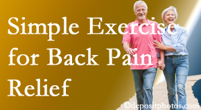 Chiropractic Care suggests simple exercise as part of the West Palm Beach chiropractic back pain relief plan.