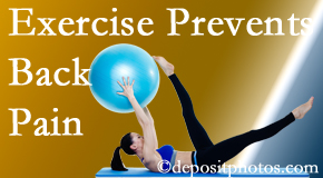 Chiropractic Care encourages West Palm Beach back pain prevention with exercise.