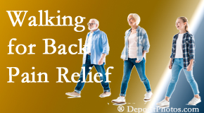 Chiropractic Care often recommends walking for West Palm Beach back pain sufferers.
