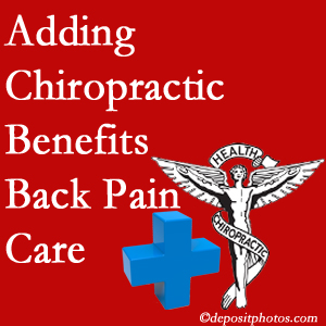 Added West Palm Beach chiropractic to back pain care plans works for back pain sufferers.