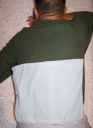 heating pad on back