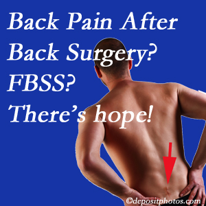 West Palm Beach chiropractic care has a treatment plan for relieving post-back surgery continued pain (FBSS or failed back surgery syndrome).