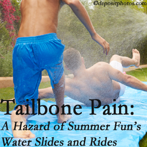Chiropractic Care offers chiropractic manipulation to ease tailbone pain after a West Palm Beach water ride or water slide injury to the coccyx.