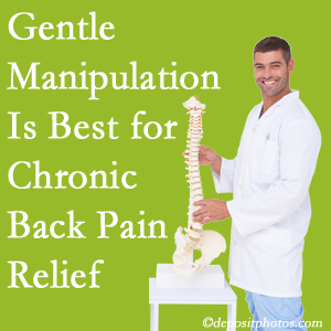 Gentle West Palm Beach chiropractic treatment of chronic low back pain is superior.