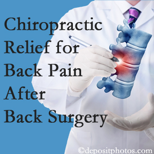 Chiropractic Care offers back pain relief to patients who have already undergone back surgery and still have pain.