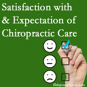 West Palm Beach chiropractic care delivers patient satisfaction and meets patient expectations of pain relief.