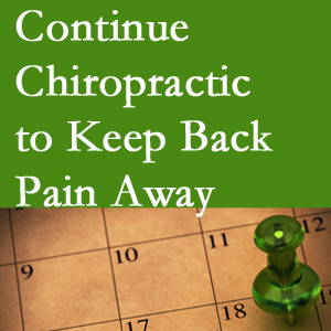 Continued West Palm Beach chiropractic care helps keep back pain away.
