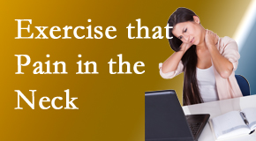 Chiropractic Care manages job-related neck pain with spinal manipulation and some exercise mixed in.