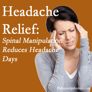West Palm Beach chiropractic care at Chiropractic Care may reduce headache days each month.