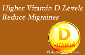 Chiropractic Care shares a new report that higher Vitamin D levels may reduce migraine headache incidence.