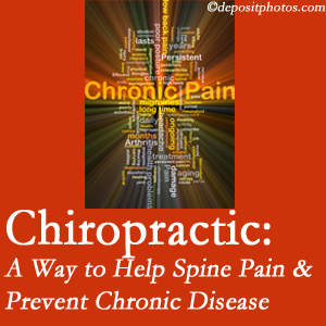 Chiropractic Care helps ease musculoskeletal pain which helps prevent chronic disease.