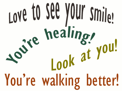 Use positive words to support your West Palm Beach loved one as he/she gets chiropractic care for relief.
